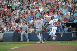 The Atlanta Braves play the Cincinnati Reds in Atlanta