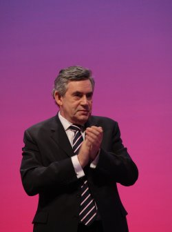 Gordon Brown on the final day of the Labour Party Conference 2009.