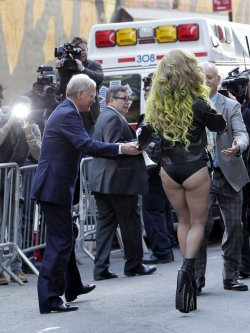 Lady Gaga at Late Show with David Letterman Show