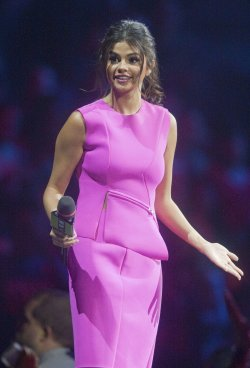 Actor Selena Gomez speaks during the 2014Vancouver We Day at Roger's Arena