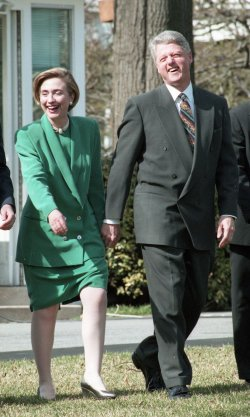 U.S. President Clinton attends event with health care providers in Washington