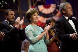 President Bush attends American Celebration at Ford's Theatre