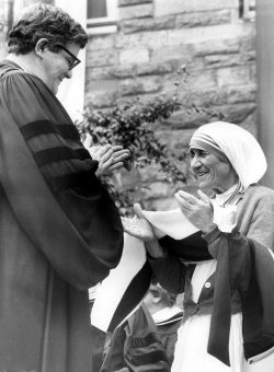 MOTHER TERESA WITH REVEREND J. DONALD FREEZE