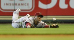 Arizona Diamondbacks Right Fielder Alex Romero Makes a Diving Attempt at Minute Maid Park in Houston