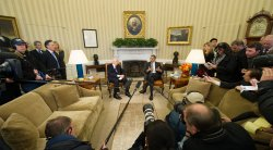 Obama and Napolitano Meet in the Oval Office