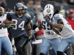 Seattle Seahawks wide receiver T.J. Houshmandzadeh catches pass for 25 yards in Seattle