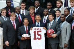 Alabama Football Team Honored at the White House