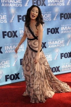 Sandra Oh attends the 42nd NAACP Image Awards Awards in Los Angeles