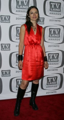 Justine Bateman arrives for the TV Land Awards in New York