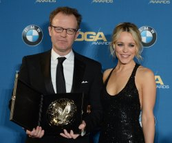 Tom McCarthy and Rachel McAdams backstage at the 68th annual Directors Guild of America Awards