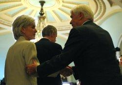 Health and Human Services Secretary Kathleen Sebelius speaks on healthcare in Washington