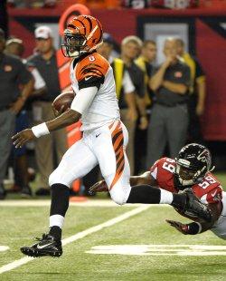 The Atlanta Falcons play the Cincinnati Bengals in a preseason football game in Atlanta