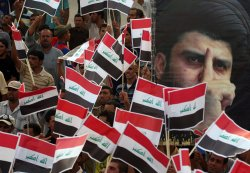 Shi'ite Iraqis demonstrate against Def. Sec. Gates' visit in Baghdad