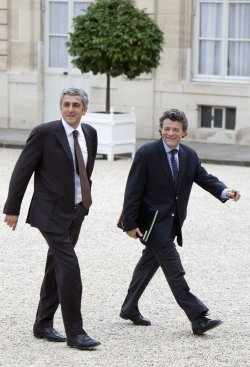 NEWLY NAMED MINISTERS ARRIVE AT ELYSEE PALACE
