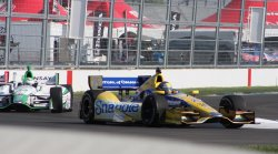 Marco Andretti warms up for inaugural Grand Prix of Indianapolis event at the Indianapolis Motor Speedway