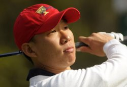 Anthony Kim watches his drive off of the 3rd tee during the second round of the 2009 Presidents Cup in San Francisco