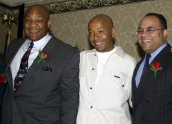 GEORGE FOREMAN RUSSELL SIMMONS AND MICHAEL POWELL NAMED 2001 FATHERS OF THE YEAR