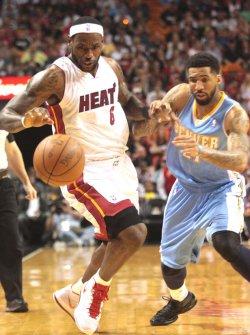 Denver Nuggets at Miami Heat, American Airlines Arena, Miami, Fl.