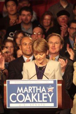 Democratic candidate Martha Coakley for Massachusetts Senate loses.