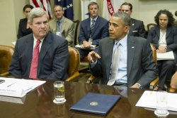 President Barack Obama meets with the White House Rural Council in Washington