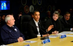 Obama Meets with FEMA Regarding the Aftermath of Hurricane Sandy