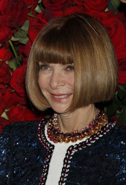 Anna Wintour arrives for the Museum of Modern Art Film Benefit honoring Pedro Almodovar in New York
