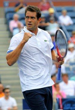 Guillermo Garcia-Lopez vs Juan Martin Del Potro at the U.S. Open in New York