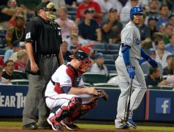 The Atlanta Braves play the Los Angeles Dodgers in Game 1 of the NLDS