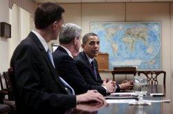 U.S. President Obama visits FBI headquarters in Washington