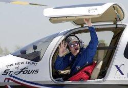Erik Lindbergh recreates his grandfather historic flight from New York to Paris, France