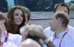 Prince William and Kate at 2012 Olympics in London