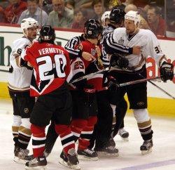 2007 STANLEY CUP FINALS GAME THREE ANAHEIM DUCKS VS OTTAWA SENATORS