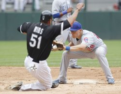 Cubs Baker catches White Sox Rios stealing in Chicago
