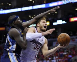 Los Angeles Clippers vs Memphis Grizzlies Game 4 NBA Western Conference Playoffs in Los Angeles