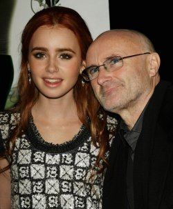 "Lily and Phil Collins attend ""The Blind Side"" movie premiere in New York"