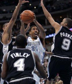 NBA SAN ANTONIO SPURS AT DENVER NUGGETS