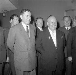 Andrei Gromyko and Nikita Khrushchev
