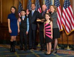 House Speaker John Boehner and Rep. Debbie Wasserman Schultz re-enact swearing in Washington D.C.