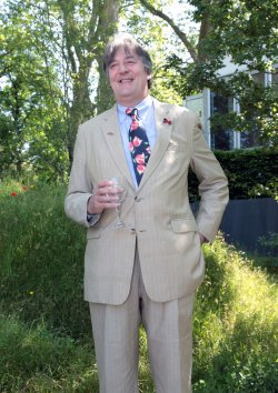 Stephen Fry at Chelsea Flower Show.