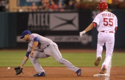 St. Louis Cardinals Stephen Piscotty safe at first base