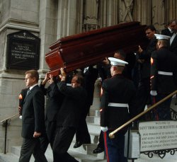 SOCIALITE BROOKE ASTOR FUNERAL SERVICE IN NEW YORK