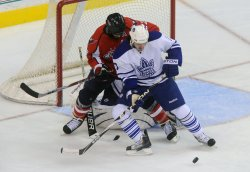Maple Leafs White blocks shot from Capitals in Washington