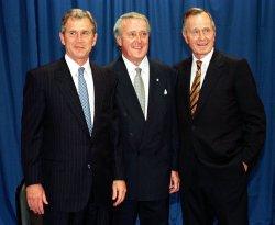 Former President George Bush's birthday party