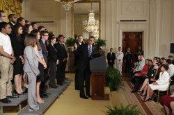 President Barack Obama delivers remarks on student loans in Washington