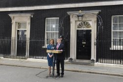 Gordon Brown and wife Sarah tenders his resignation as Britain's Prime Minister