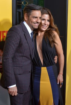 "Eugenio Derbez and Alessandra Rosaldo attend the ""How to Be a Latin Lover"" premiere in Los Angeles"