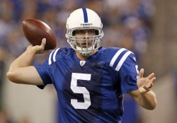 Colts Quarterback Collins Passes Against Browns