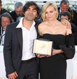 Diane Kruger and Fatih Akin attend the Award Photocall at the Cannes International Film Festival