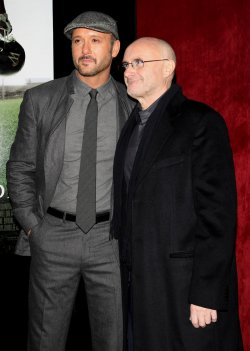 "Tim McGraw and Phil Collins attend ""The Blind Side"" movie premiere in New York"