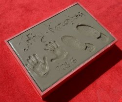 Jeffrey Katzenberg immortalized in forecourt of TCL Chinese Theatre in Los Angeles